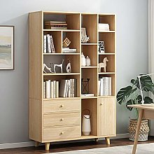 GFBVC Display Stand Wooden Tall Bookshelf Shelving