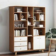 GFBVC Display Stand Wooden Tall Bookshelf Shelving