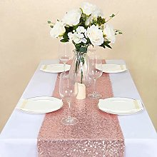 GFCC 12 x 72 -Inch Rectangle Sequin Table Runner
