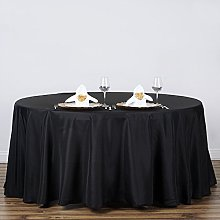 GFCC 120 inch Black Polyester Tablecloth for