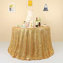 GFCC Gold Sequin Tablecloth 90inch Round Table