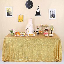 GFCC Gold Sequin Tablecloth - Glitter Gold Table