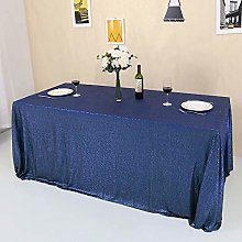 GFCC Navy Blue Sequin Tablecloth Sparkly for Party