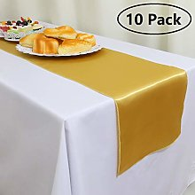 GFCC Pack of 10 Satin Table Runners 12 x 108