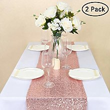 GFCC Rose Gold Table Runner - 2 Pack 12x72inch