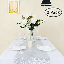 GFCC Silver Sequin Table Runner - 2PCS