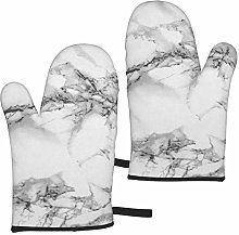 gfhfdjhf Marble Gray Oven Gloves,Heat Resistant