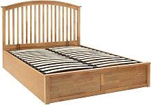 GFW Madrid Ottoman Kingsize Bed Frame - Oak Effect