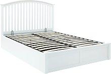 GFW Madrid Ottoman Kingsize Bed Frame - White