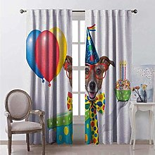 GGDPSJT Bedroom blackout curtains 183x215cm Animal
