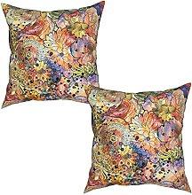 Gggo 2Pcs Cushion Covers abstract seamless pattern