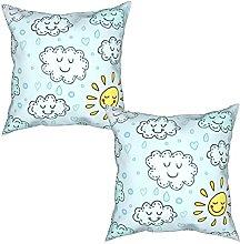 Gggo 2Pcs Cushion Covers blue seamless pattern