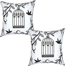Gggo 2Pcs Cushion Covers Cages with Branch of Tree