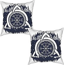 Gggo 2Pcs Cushion Covers Celtic Knot with Tridents