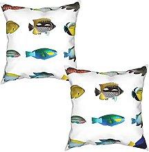 Gggo 2Pcs Cushion Covers Egyptian Fish with