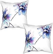 Gggo 2Pcs Cushion Covers Flower Drawing with Soft