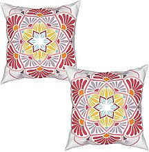 Gggo 2Pcs Cushion Covers Flower for coloring book