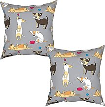 Gggo 2Pcs Cushion Covers seamless pattern with