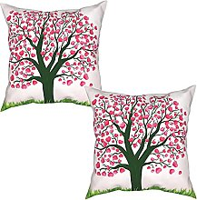 Gggo 2Pcs Cushion Covers valentines day background