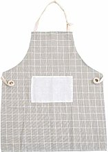 GGLLBL 1Pcs Plaids Striped Cotton Linen Apron