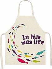 GGLLBL Women Men Kitchen Aprons Housewife Apron