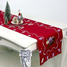 GGQT Christmas Embroidered Table Runner Xmas Table