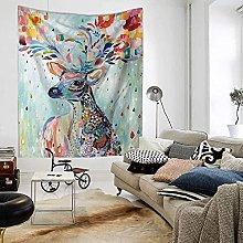 GGSDDU Cute Animal Tapestry Colorful Deer Tapestry