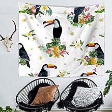 GGSDDU Cute Animal Tapestry Floral Bird Tapestry