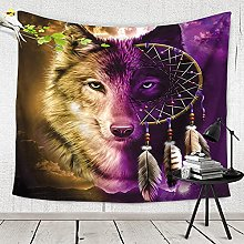 GGSDDU Trippy Animal Wall Tapestry,Hippie Wolf