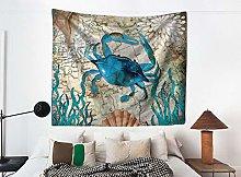 GGSDDU Vintage Tapestry Ocean Animal Crab Tapestry