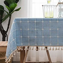 GH-YS table cloths Cotton Linen Washable Rectangle
