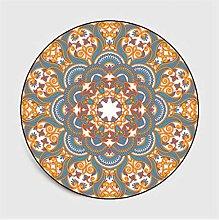 GHGD 80X80-Bohemian Mandala Round Carpet Geometric