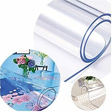 GHHQQZ Clear Tablecloth, Waterproof High