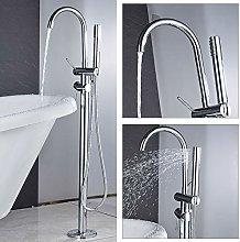 GHKUFH Bathtub faucet Chrome Bathtub Faucet 360