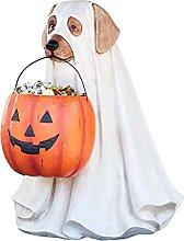 Ghost Dog Candy Bowl Holder, Halloween Dog PumpKin