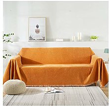 GHP Chenille Sofa Throws Blanket with Tassels