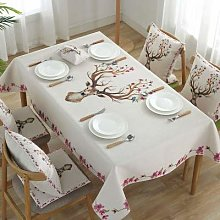 GHTYN Flower Deer Cotton And Linen Style Printed