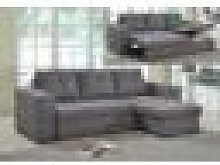 Gianni Storage Chaise Sofa Bed Linen Grey