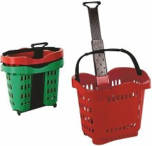 Giant Red Shop Basket Trolley SBY20753 - SBY20753