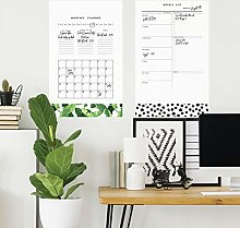 Giant Repositionable Monthly Calendar Sticker with