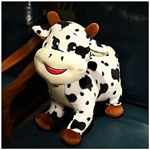 Giant Simulation cow Plush Toy, Cute white Cattle
