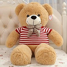 Giant Teddy bear Plush Toy, Cute Baby Pillow red