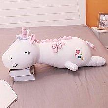 Giant Unicorn Plush Toy, Cute Baby Pillow White