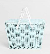 GIAO Basket Natural Vintage Rattan Woven Portable