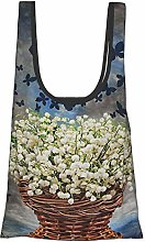 GIERTER Lilly of The Valley Floral Decor Butterfly