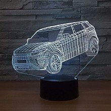 Gifts 3D Lamp Mood Night Light Car SUV USB Next to