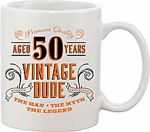 Gifts & Gadgets Co. Aged 50 Vintage Dude The Man