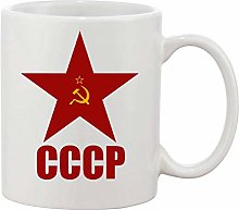 Gifts & Gadgets Co. CCCP Red Star 11 oz Ceramic