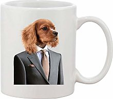 Gifts & Gadgets Co. Dapper Suited Dog Mug 11 oz
