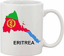 Gifts & Gadgets Co. Eritrea Flag On Map Eritrean